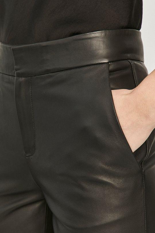 czarny Red Valentino - Spodnie skórzane