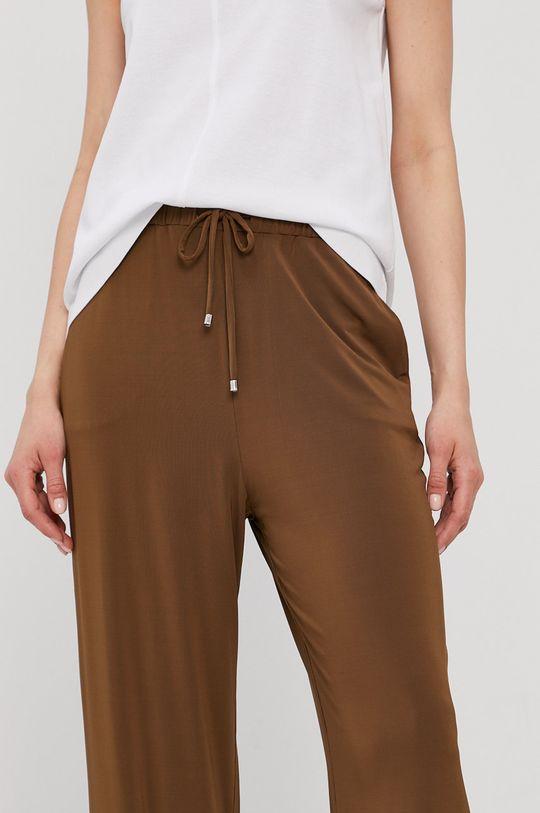 złoty brąz Max Mara Leisure - Spodnie