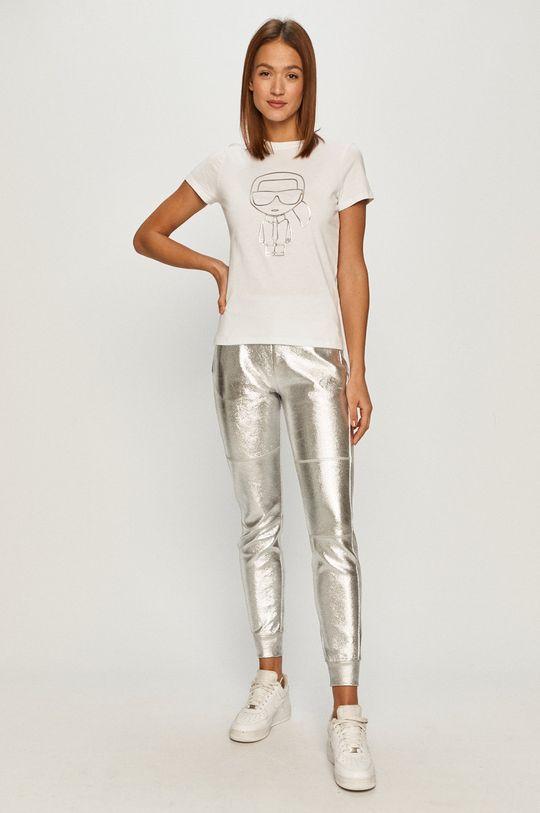 Karl Lagerfeld - Spodnie srebrny