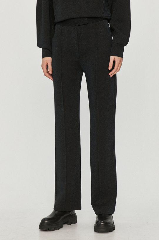 granatowy Karl Lagerfeld - Spodnie Damski