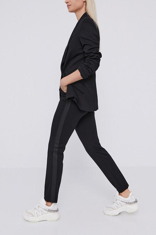 czarny Karl Lagerfeld - Spodnie Damski