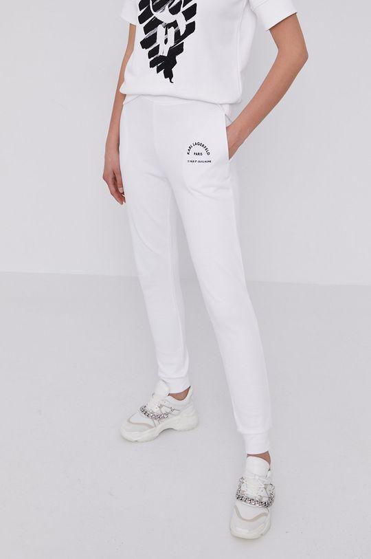 biały Karl Lagerfeld - Spodnie Damski