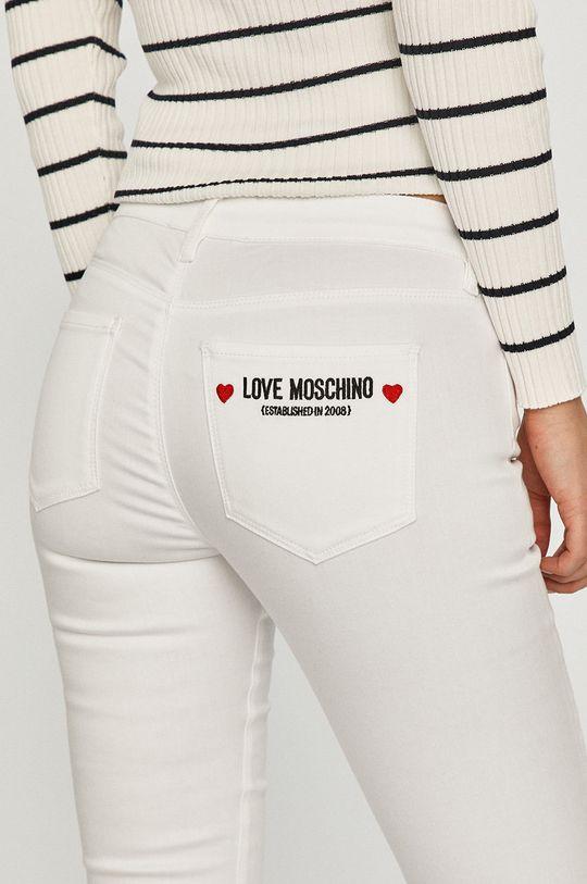 bílá Love Moschino - Džíny