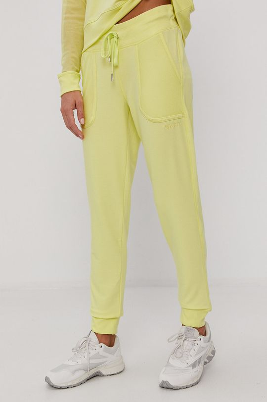 żółto - zielony Dkny - Spodnie Damski