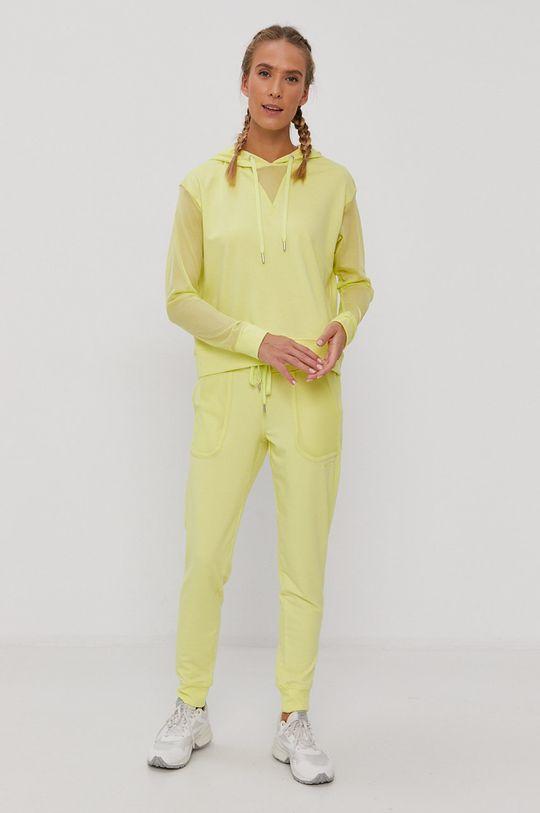 Dkny - Spodnie żółto - zielony