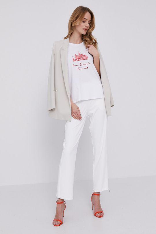 Patrizia Pepe - Spodnie biały