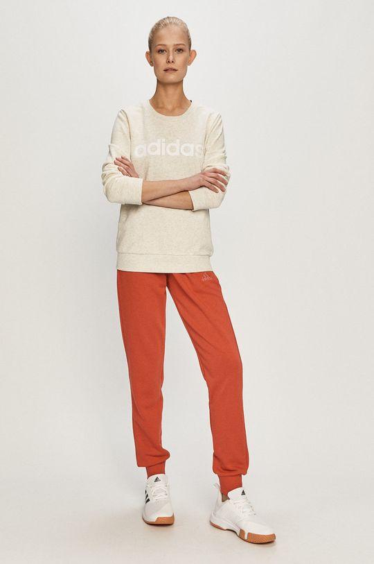 adidas - Spodnie ostry czerwony