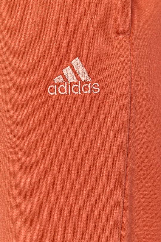 ostry czerwony adidas - Spodnie