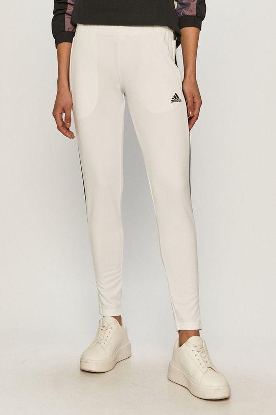 biały adidas Performance - Spodnie Damski