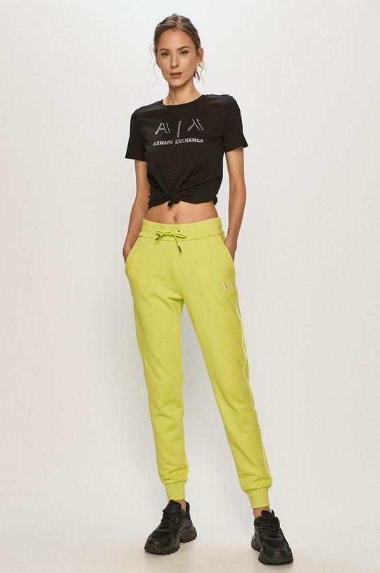 Armani Exchange - Kalhoty zelená
