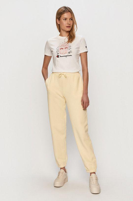 Only - Spodnie żółty