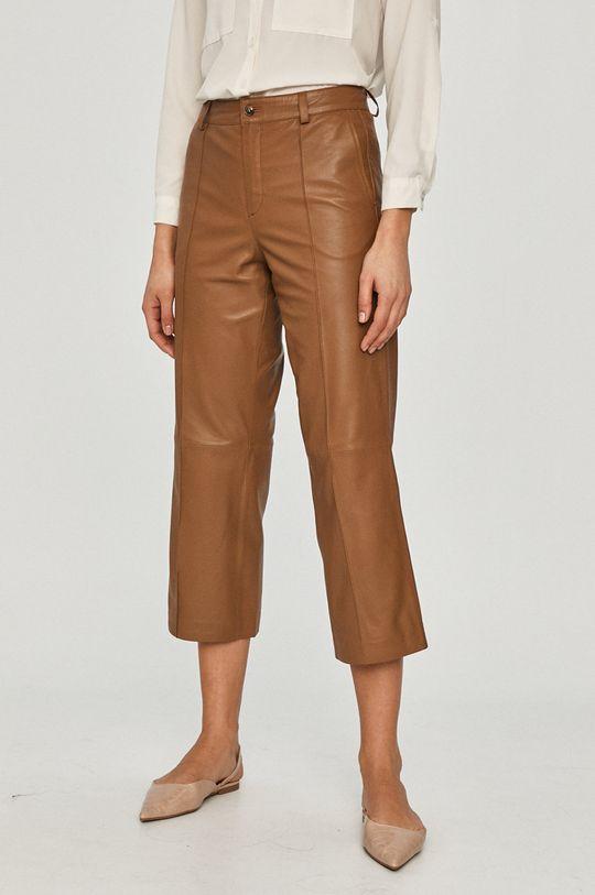 brązowy Mos Mosh - Spodnie skórzane Damski