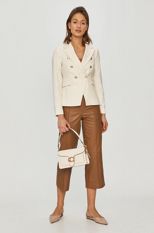 Mos Mosh - Spodnie skórzane brązowy