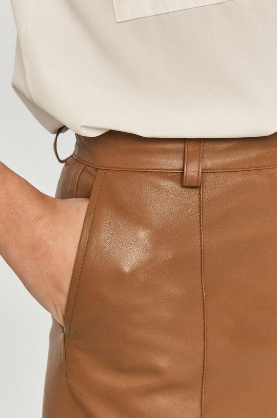 brązowy Mos Mosh - Spodnie skórzane