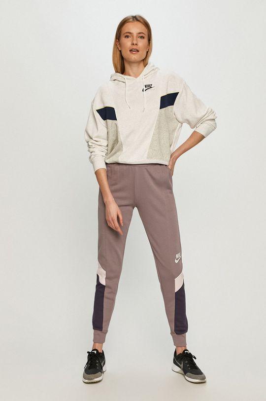 Nike Sportswear - Spodnie winogronowy