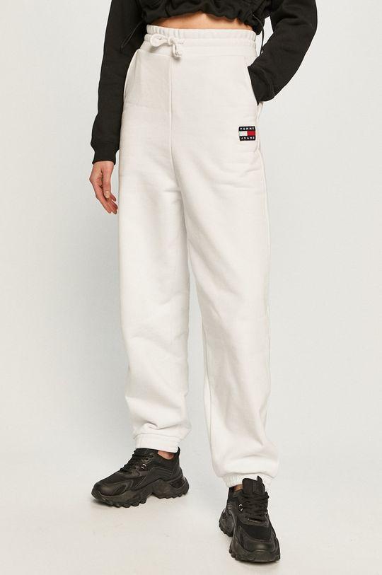 biały Tommy Jeans - Spodnie Damski