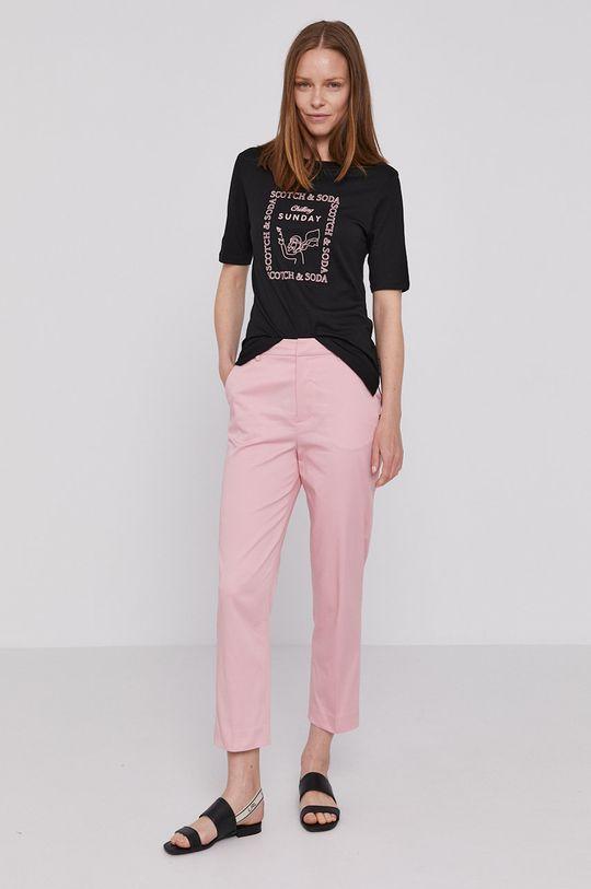 Scotch & Soda - Spodnie różowy