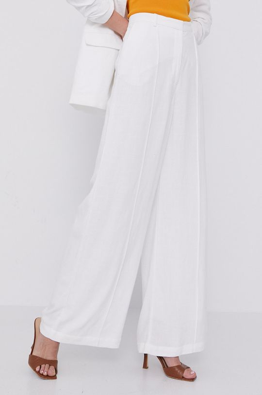 biały Bardot - Spodnie Damski