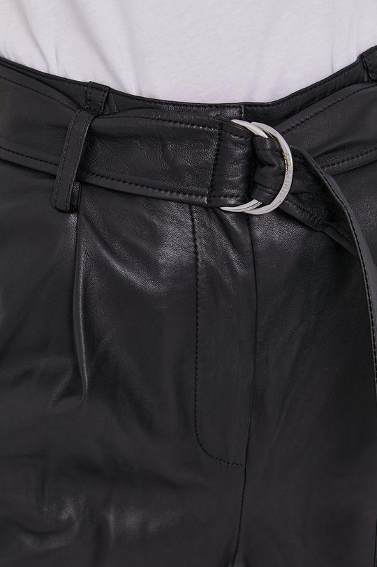 czarny AllSaints - Spodnie skórzane