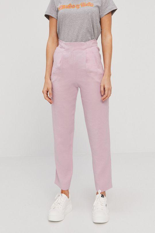pastelowy różowy BIMBA Y LOLA - Spodnie Damski