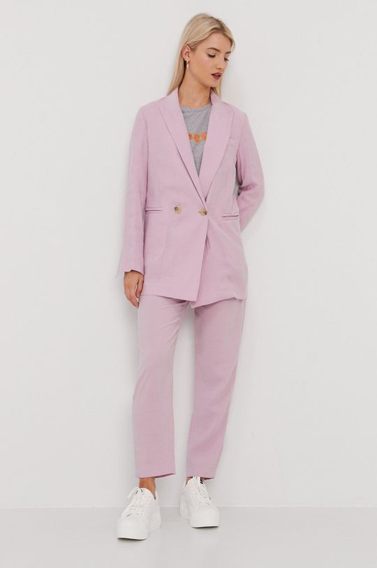 BIMBA Y LOLA - Spodnie pastelowy różowy
