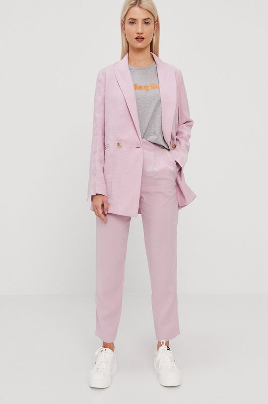 pastelowy różowy BIMBA Y LOLA - Spodnie