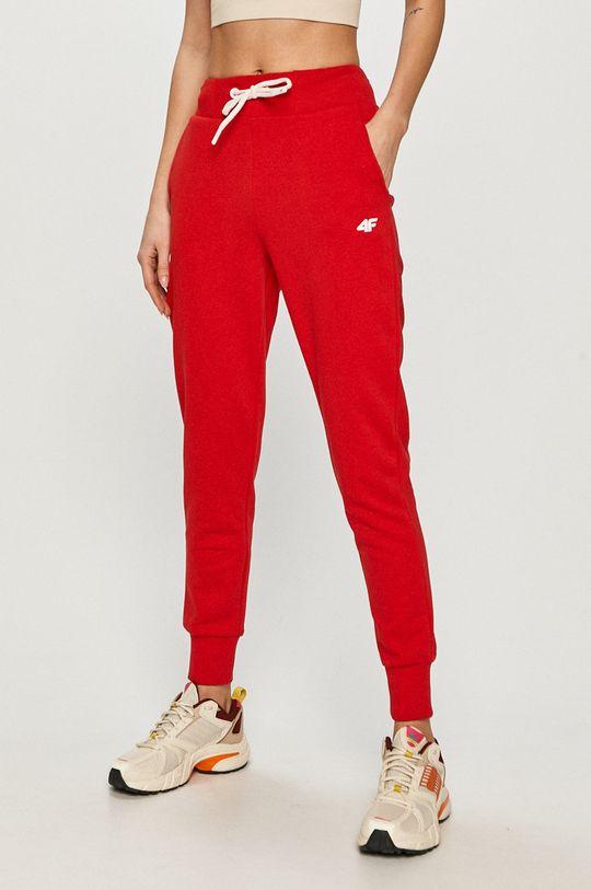 červená 4F - Kalhoty Dámský