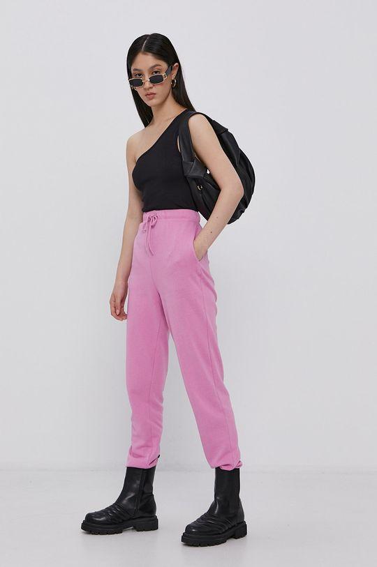 ostry różowy Pieces - Spodnie