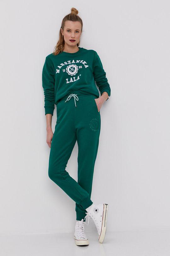 PLNY LALA - Spodnie zielony