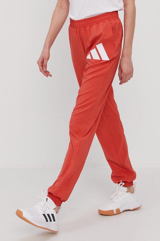 czerwony adidas Performance - Spodnie Damski