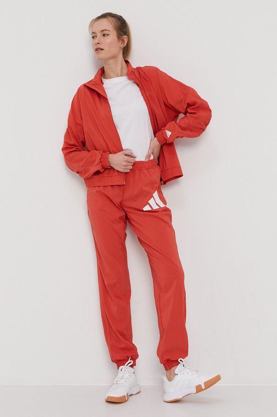 adidas Performance - Spodnie czerwony