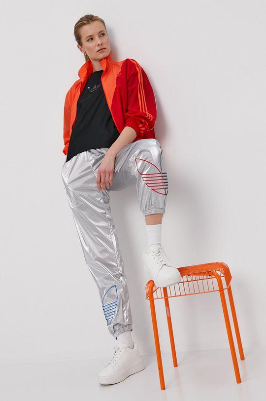 srebrny adidas Originals - Spodnie Damski