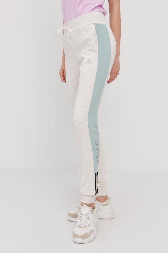 adidas - Pantaloni  Interiorul: 95% Bumbac, 5% Spandex Materialul de baza: 53% Bumbac, 11% Rayon, 36% Poliester reciclat