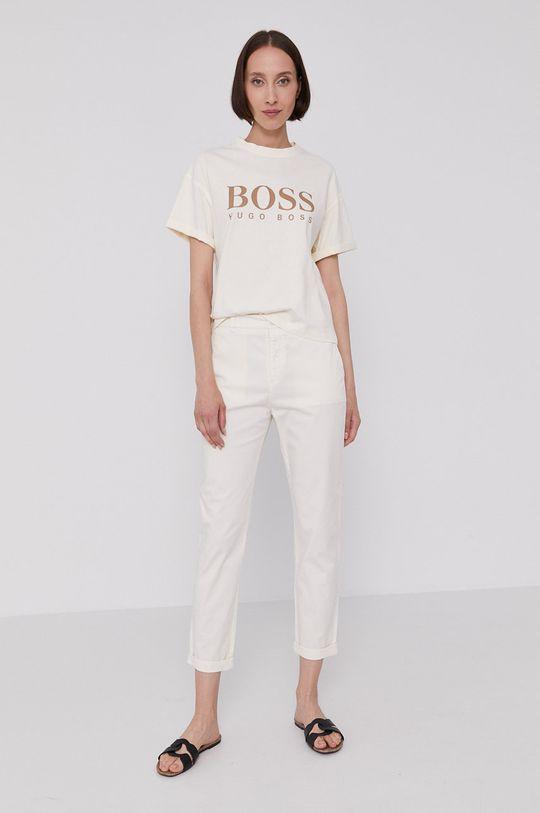 Boss - Nohavice krémová