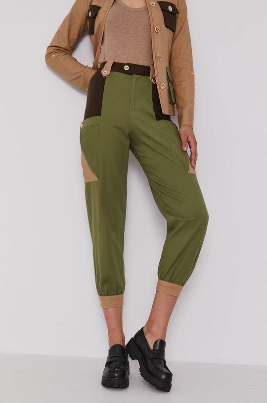jasny oliwkowy United Colors of Benetton - Spodnie Damski