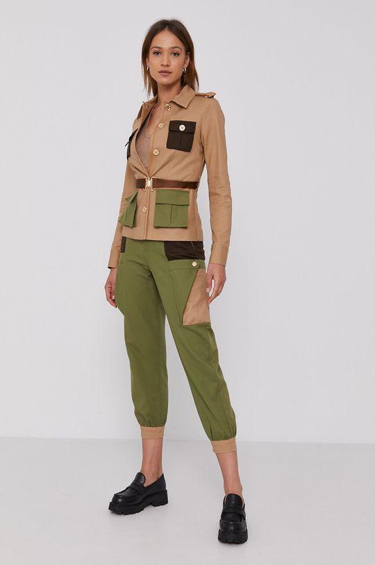 United Colors of Benetton - Spodnie jasny oliwkowy