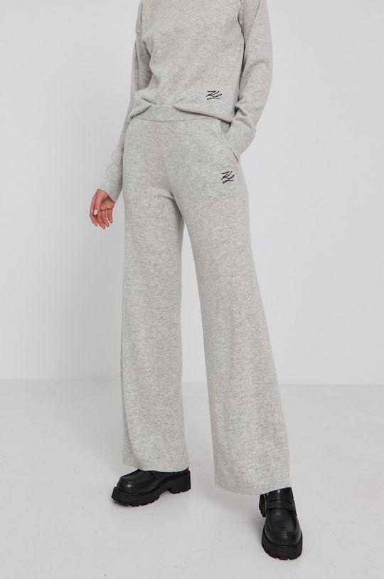 světle šedá Karl Lagerfeld - Kalhoty Dámský