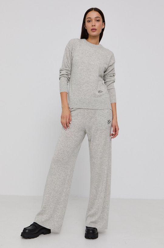 Karl Lagerfeld - Kalhoty světle šedá
