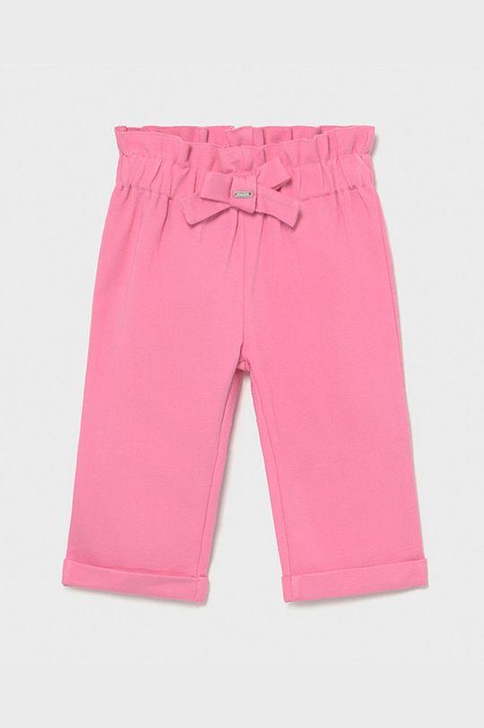 różowy Mayoral - Spodnie dziecięce Dziewczęcy