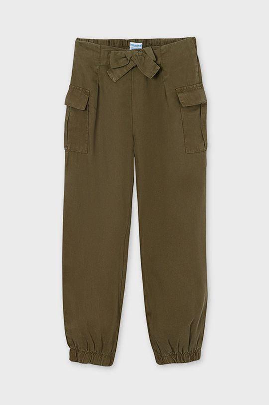 Mayoral - Detské nohavice hnedozelená