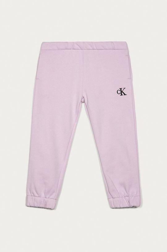 lawendowy Calvin Klein Jeans - Spodnie dziecięce 104-176 cm Dziewczęcy