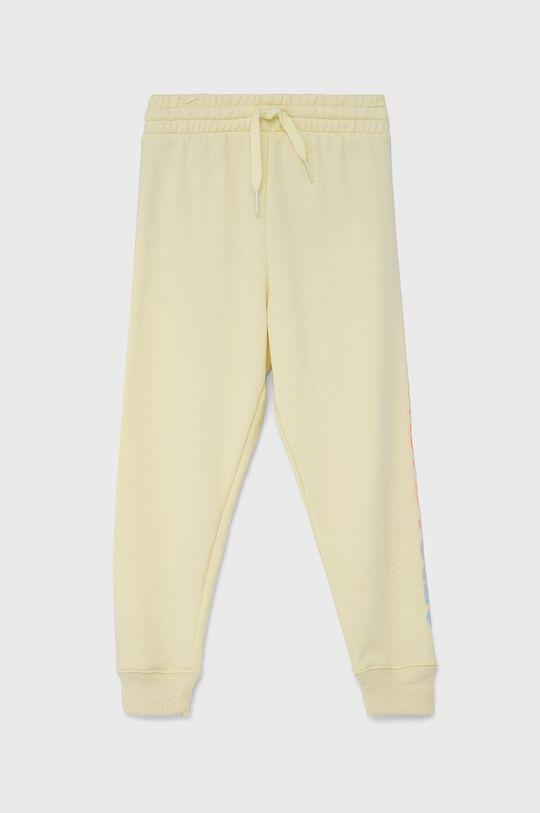 jasny żółty GAP - Spodnie dziecięce Dziewczęcy