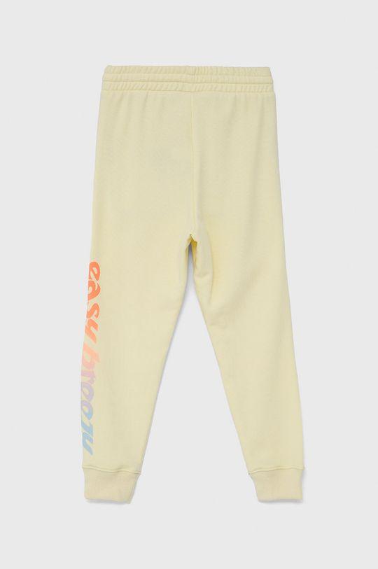 GAP - Spodnie dziecięce jasny żółty
