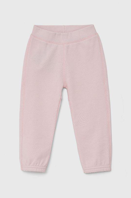 pastelově růžová United Colors of Benetton - Dětské kalhoty Dívčí