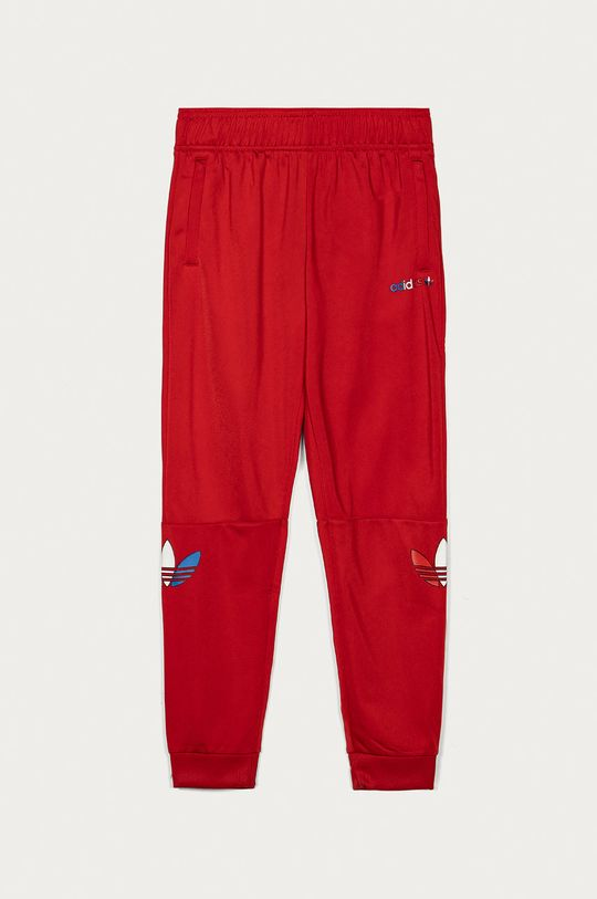 czerwony adidas Originals - Spodnie dziecięce 140-176 cm Dziecięcy