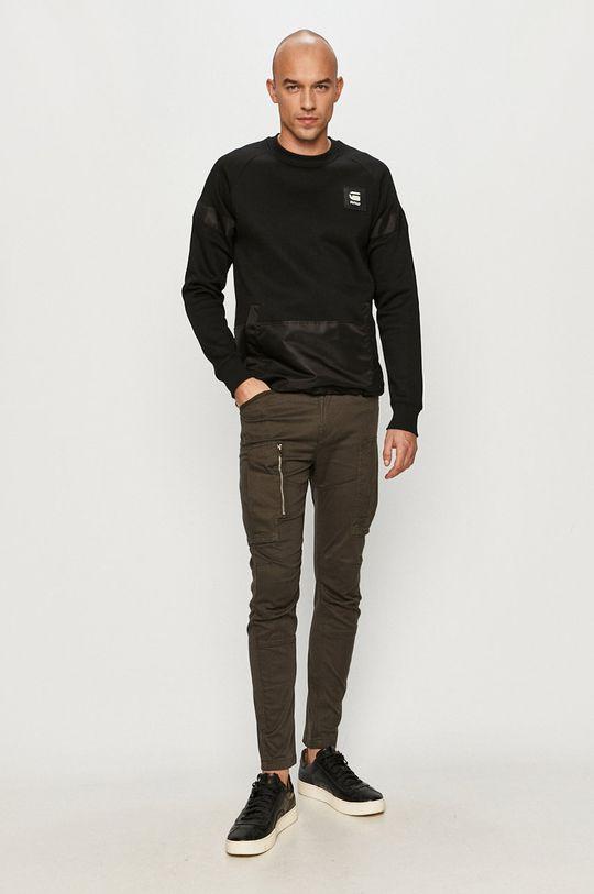 G-Star Raw - Kalhoty tmavě zelená