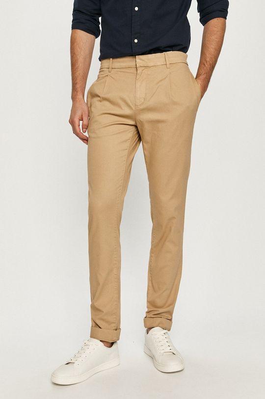 béžová Tom Tailor - Kalhoty Pánský