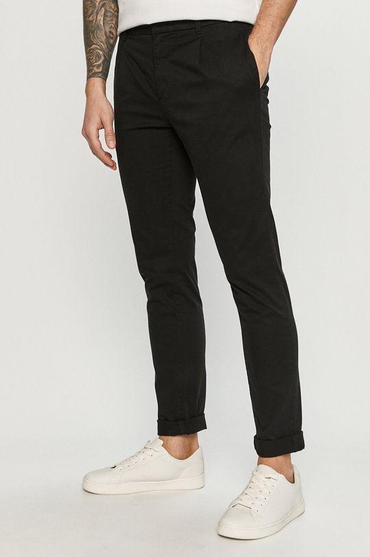 czarny Tom Tailor - Spodnie Męski