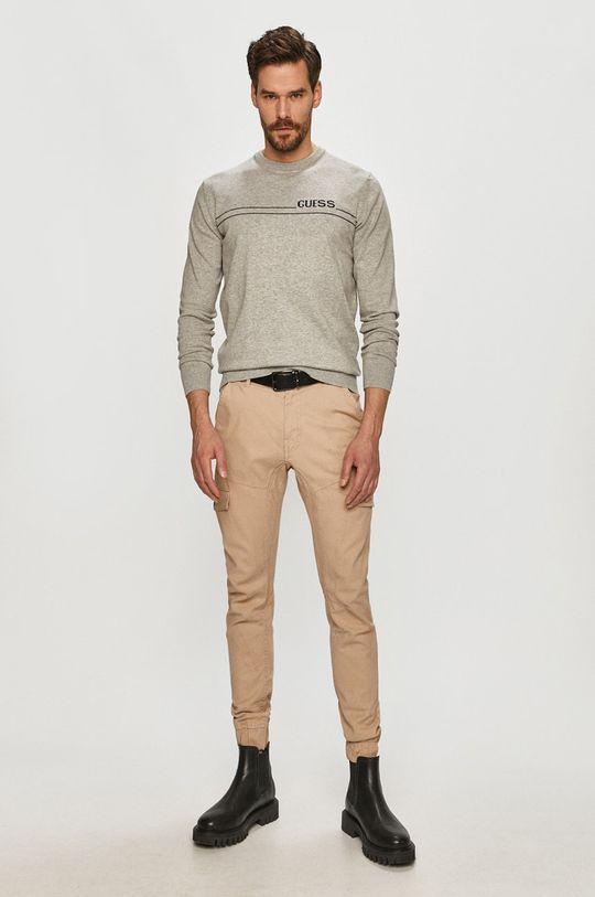 Guess - Kalhoty béžová