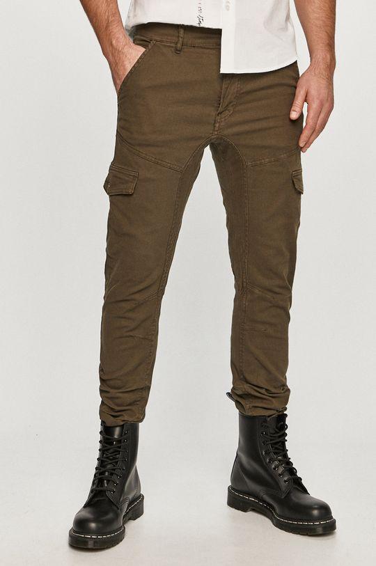 olivová Guess - Kalhoty Pánský